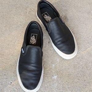 Vans Perf Leather Slip On Shoes, 8.5 Men 10 Women